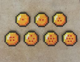 The Dragon Balls - Perler Bead Sprites by MaddogsCreations