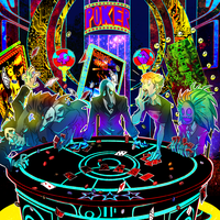 Cosmic casino :commission: by Fries-N-Patty