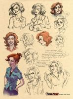 Sketch Page of Lt. Van Tassel by GingerOpal