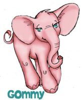 Gommy pink elephant by colormist