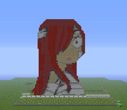 Injury Erza scarlet, minecraft style by DWeegee