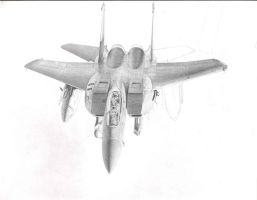 Old unfinished F-15E by Raptorguy
