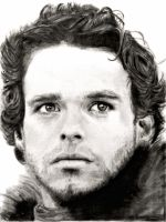 Drawing of Robb Stark, Game of Thrones by SHParsons