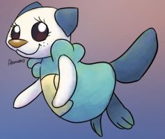 Oshawott by skeletall