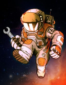 Astronaut Color SKetch by MrG00