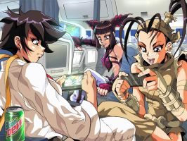 SSFIV - on the plane by MightyOtaking