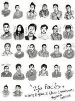 26 Faces: An Xperia Z Ultra Commission by Heynim