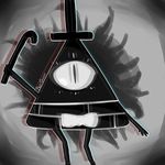 Bill Cipher Doodle by Red-Ghost-Art