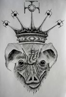 Pig in a crown by MrAlheka