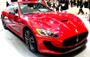 Hot Red Maserati At The Show by toyonda