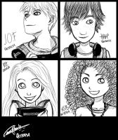 The Big Four :: 1st Day of High School by 963Q-karin