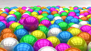 3D Glossy Colourful Balls! by ryanr08