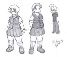 Schoolgirls Alissa and Megan by DFoot86