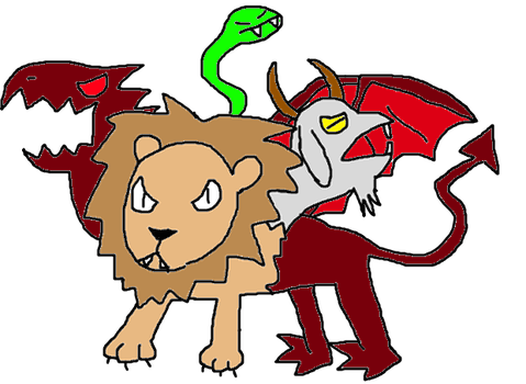 Mythical Creature drawing: Chimera by Jason5432