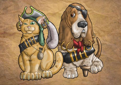 Pirate Pets by Metal-Truncator