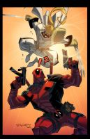 Deadpool Vs. Shatterstar by E-Mann