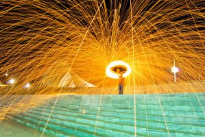 Steelwool fire series by Aviectus