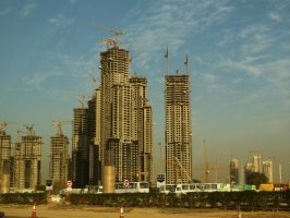 Skyscrapers in Dubai by Miss-Nefer-Stock