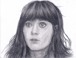 Zooey Deschanel Portrait by HarrisonOdell