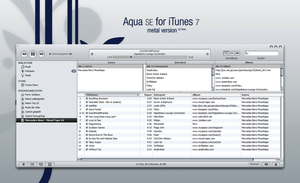 AquaSE skin for iTunes 7 by MrToNeR