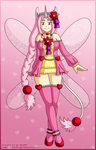[CLOSED] Pink Heart Unicorn Fairy Adoptable by izka197