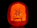 Shovel Knight Pumpkin by ceemdee