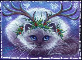 Himalayan Reindeer Kitty by carefulwhatyawishfor