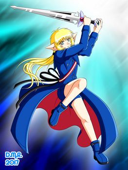 Blue Knight - For RinRin by Hika-Yagami