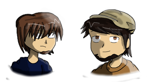 JonTron and PeanutbutterGamer by PhantomGline