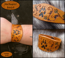 Pawprint and Vines Bracelet by TheScreamingNorth