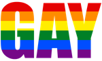 Gay Typography by Pride-Flags