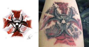 Tatodesing Umbrella corp for friend by BaIK3N