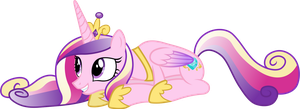 Prone Princess Cadance by 90Sigma