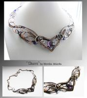 Daere- wire wrapped copper necklace by mea00