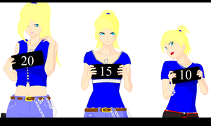 Sara Over the Years_Colored by gaarasbabe2000