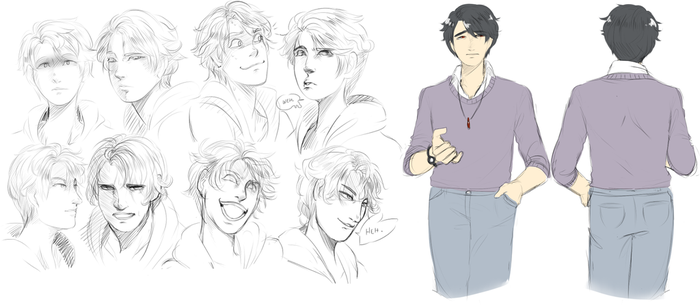 Various sketches : Ky by 0alacrity