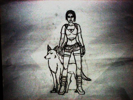 Tomb Raider and Toboe by Wolf4life