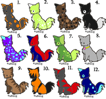 Feline Cat Adoptables: CLOSED by Balance-Song
