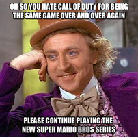Condescending Wonka on the New Super Mario Bros by JanetAteHer