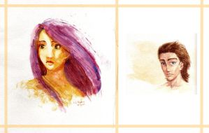 Watercolors - Elisa and Juan by Celebel-Quettandil
