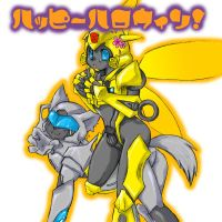 Bumblebee and Jazz by sawara-b