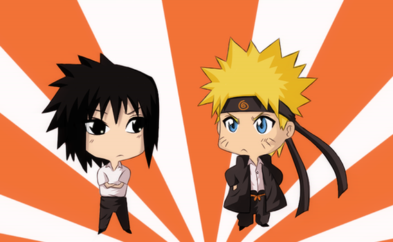 Collab: Narusasu chibis by beyrouty