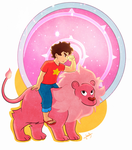 Steven And Lion by SonGohanZ