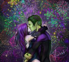 Beast-Boy-x-Raven-kiss-teen-titans-couples-3103415 by beastboy123456789