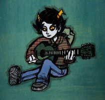 Meddling Guitar by kidcoelacanth