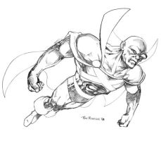 Martian Manhunter BW by Tronar