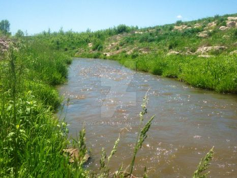 Wounded Knee Creek by Zuzechan