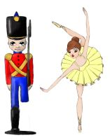 soldier and ballerina by NoMoreThanMe