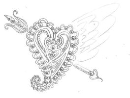 Heart Tattoo Design by Taiya001