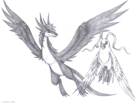 Gift art: Zwindial and Pigeona by Pigeona